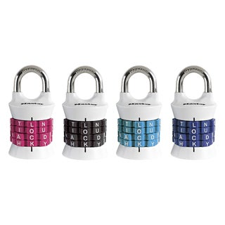 Master Lock 1535DWD Master Lock Word Combo Padlock Assorted Colors