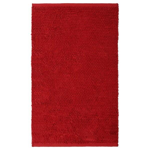 Plush Nubby Red Bath Rug (21 x 34 inches)