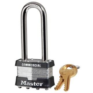 Master Lock 1KALJ 2734 Laminated No. 1 Long Shackle Padlock