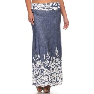 Women's Paisley Plus Size Maxi Skirt