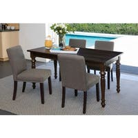 Handy Living Tobacco Brown Linen Dining Chairs (Set of 4)