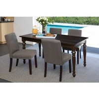 Handy Living Tobacco Brown Linen Dining Chairs Set Of 4