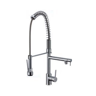 MTD Vanities Deo K8203 Single-hole Pull-down Spray Kitchen Faucet with Pot Filler