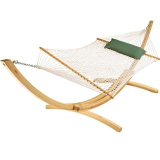 Hatteras Deluxe White Polyester Rope Hammock