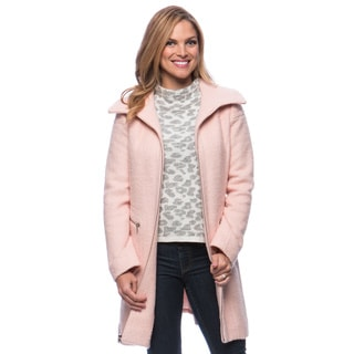 Jessica Simpson Women's Singlebreasted Boucle Coat Small Size in Heather (As Is Item)