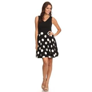 Women's Polka Dot Sleeveless Flare Dress