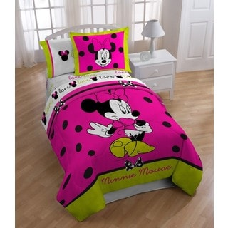 Disney MInnie Neon 6-piece Bed in a Bag with Sheet Set