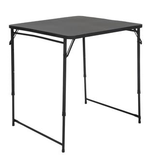 COSCO 34 Inch Square Adjustable Height PVC Top Black Table