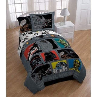 """Star Wars """"Classic Death Star"""" Twin 5-piece Bed in a Bag Set"""