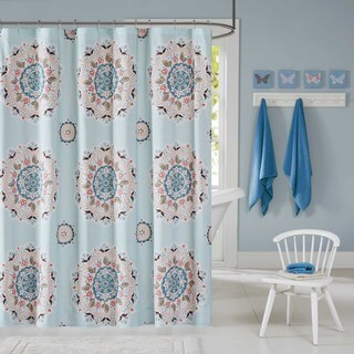 Ink+Ivy Kids Hana Blue Shower Curtain