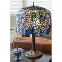 Shop meyda tiffany style nightfall wisteria table lamp free river of goods 30 inch tall stained glass tiffany inspired grand wisteria table lamp mozeypictures Gallery