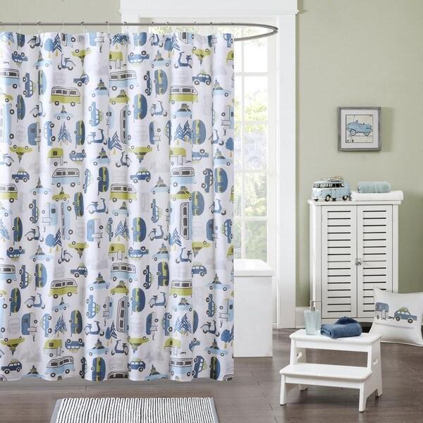 Ink+Ivy Kids Road Trip Multi Shower Curtain