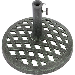 Trademark Innovations 17.7-inch Diameter Cast Iron Umbrella Base