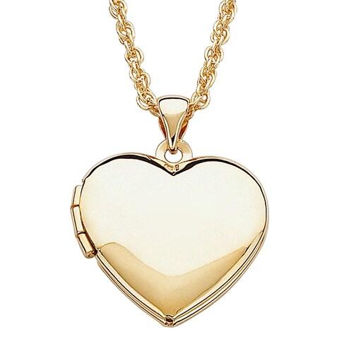 Children's Goldtone Heart Locket Necklace