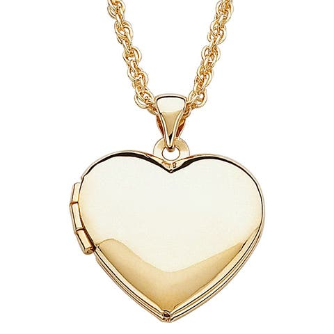 Children's Goldtone Heart Locket Necklace