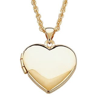 Children S Goldtone Heart Locket Necklace
