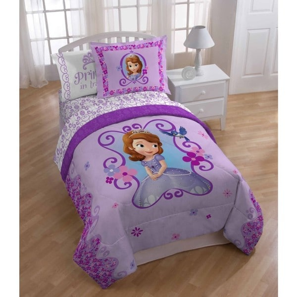 Disney Sofia The First Twin Bed in a Bag with Oversized Comforter