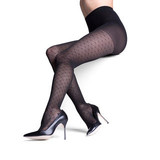 Insignia Sigvaris Headliner Black Nylon Graduated Compression Pantyhose