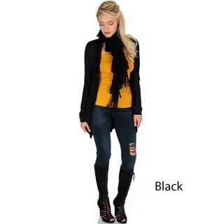 Women's Long Sleeve Open Front Cardigan