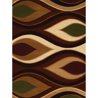 Gallery Augustina Brown/Beige Synthetic Runner Rug (1'11 x 7'2)