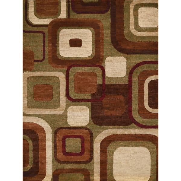 Gallery Ayanna Brown Polypropylene Accent Rug - 2' x 3'