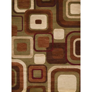 Gallery Ayanna Brown Polypropylene Accent Rug