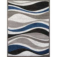 "Gallery Emmaline Blue/Grey Polypropylene Area Rug - 7'10"" x 10'6"""