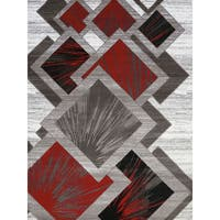 Gallery Tayah Red Polypropylene Area Rug (5'3 x 7'2)