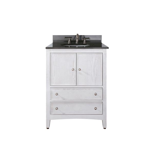 Shop Avanity Westwood 30 Inch White Washed Finish Vanity Combo Free Shipping Today Overstock