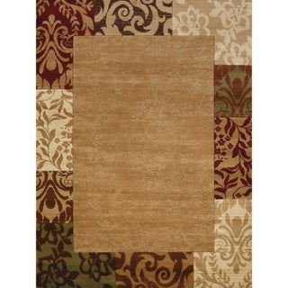"Gallery Ayla Multicolored Polypropylene Indoor/Outdoor Area Rug - 7'10"" x 10'6"" (Option: Beige/Burgundy)"