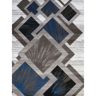Gallery Tayah Grey Geometric Area Rug (5'3 x 7'2)