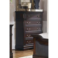 Coaster Company Cambridge Cherry Wood Five Drawer Chest