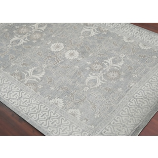 Hand-Knotted Bethel Grey New Zealand Wool Area Rug (2'x3')