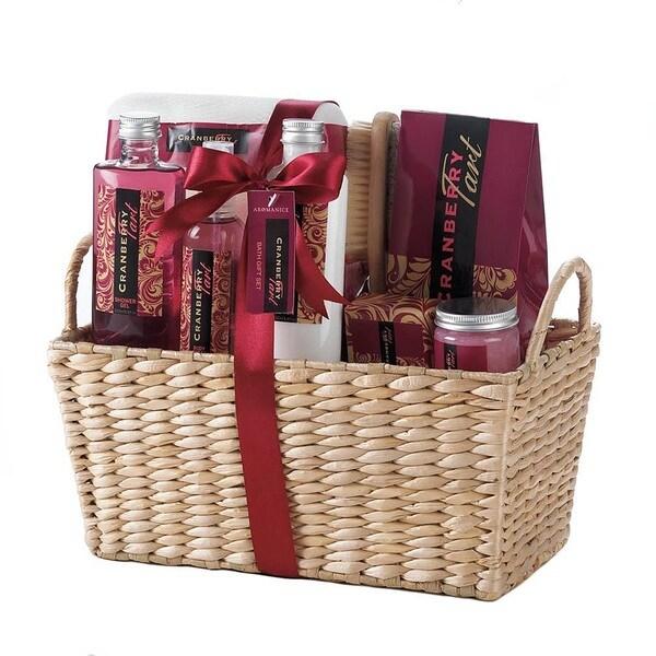 Bath Essentials Cranberry Scent Gift Set