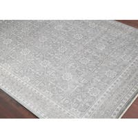 Hand-Knotted Bethel Grey Brown New Zealand Wool Area Rug - 2' x 3'