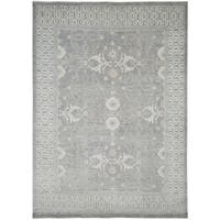 Hand-Knotted Bethel Grey New Zealand Wool Area Rug (8'x10')