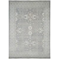 Hand-Knotted Bethel Grey New Zealand Wool Area Rug (9'x12')