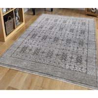 Hand-knotted Bethel Taupe New Zealand Wool Area Rug - 8' x 10'
