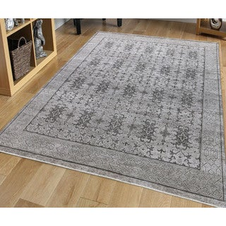 Hand-Knotted Bethel Taupe New Zealand Wool Area Rug (10'x14')