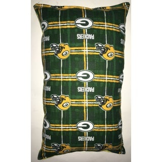 Lillowz NFL Green Bay Packers Reversible 9-inch x 16-inch Rectangular Throw Pillow
