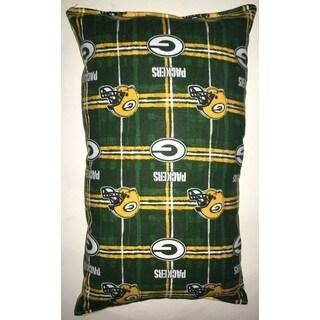 Lillowz NFL Green Bay Packers Reversible 9-inch x 16-inch Rectangular Throw Pillow