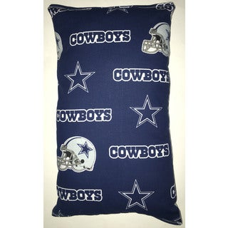 Lillowz NFL Dallas Cowboys Reversible 9 inch x 16 inch Rectangular Throw Pillow
