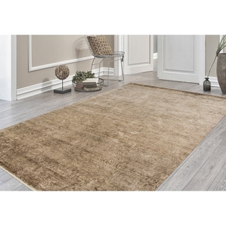 Hand-Knotted Abel Night Rider New Zealand Wool Area Rug (6'x9')