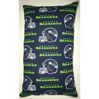 Lillowz NFL Seattle Seahawks Cotton Blend 9-inch x 16-inch Rectangular Throw Pillow