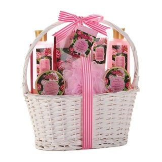 Bath and Body Vintage Damask Rose Scent Gift Basket
