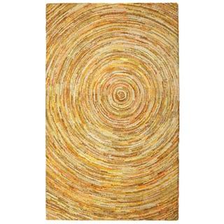 Brilliant Ribbon Yellow Hurricane Rug (4' x 6')