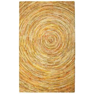 Brilliant Ribbon Yellow Hurricane Rug (5' x 8') - 5' x 8'