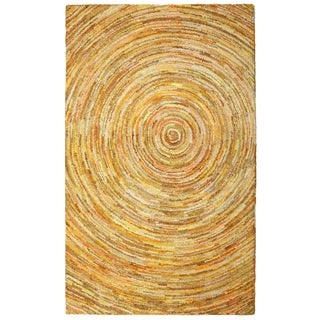 Brilliant Ribbon Yellow Hurricane Rug (5' x 8')