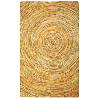 Brilliant Ribbon Yellow Hurricane Rug (8' x 10') - 8' x 10'