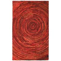 Brilliant Ribbon Red Hurricane Rug (5' x 8') - 5' x 8'
